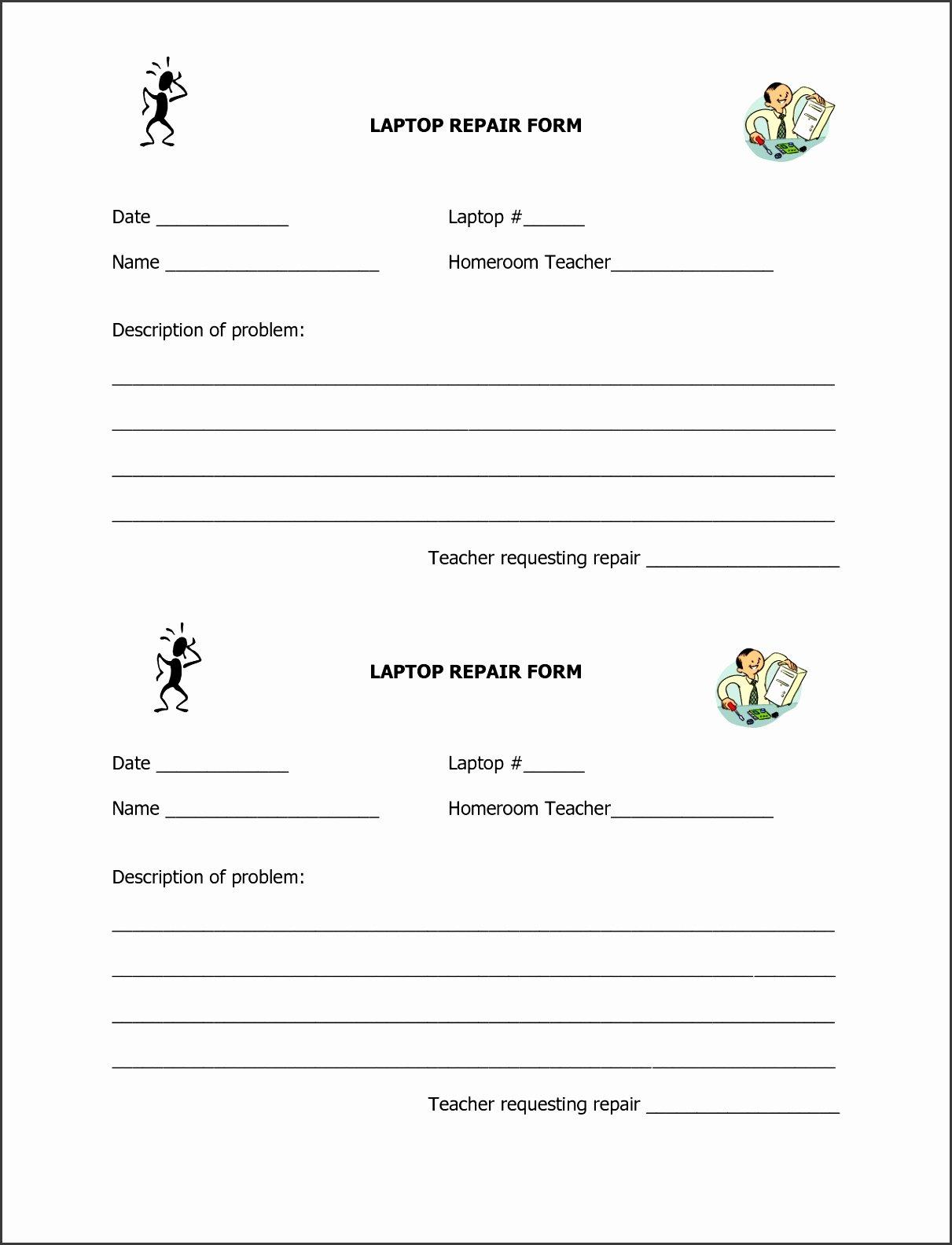 Computer Repair forms Templates Awesome 6 Puter Repair Request form Template Sampletemplatess
