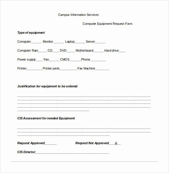 Computer Repair forms Templates Elegant Sample Puter Service Request form 12 Download Free