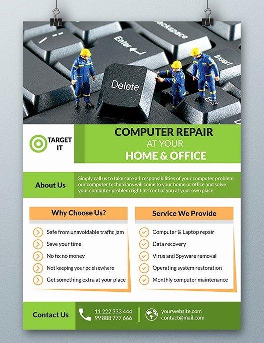 Computer Repair forms Templates Unique Free Puter Repair Flyer Template Psd Titanui