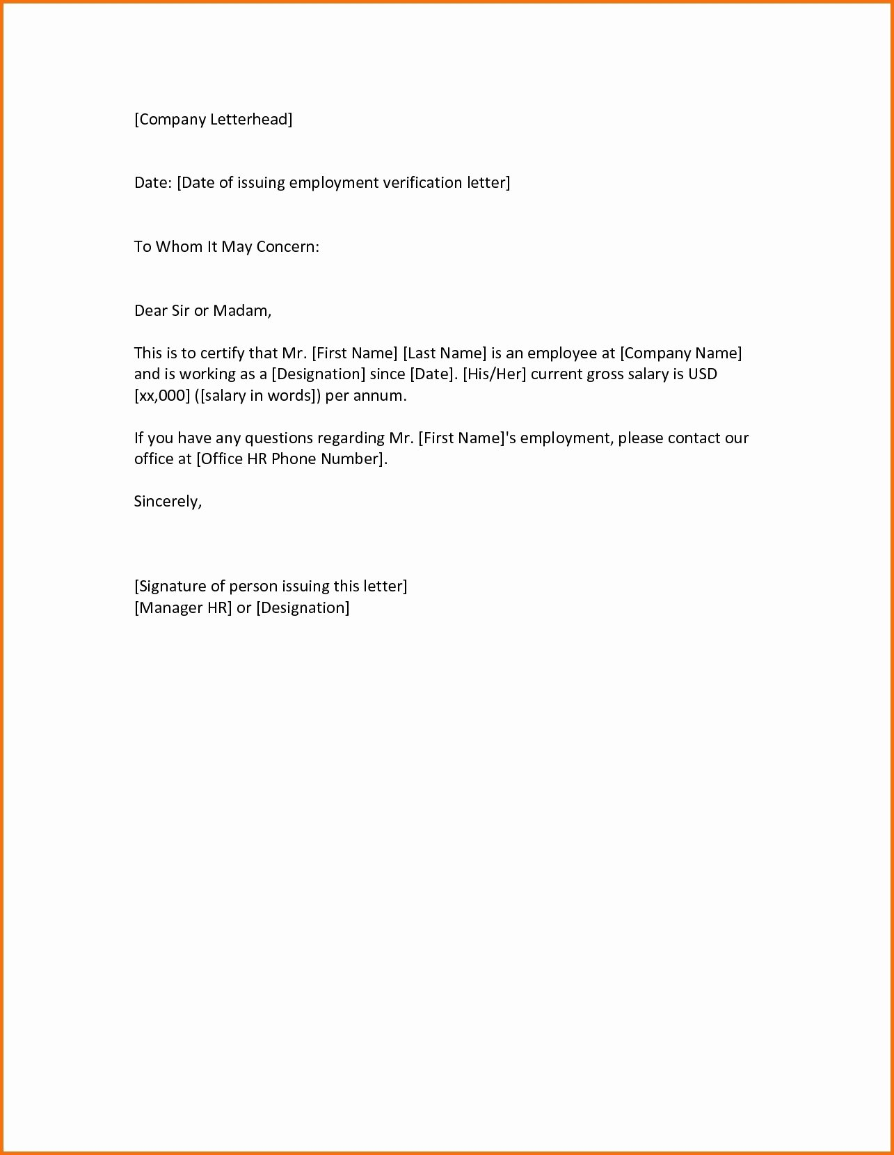 Concerned Letter Sample Fresh to whom It May Concern Letter Sample for Employee