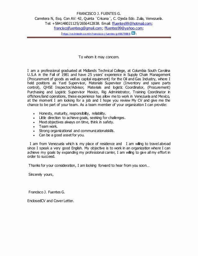 Concerned Letter Sample Luxury Cover Letter to whom It May Concern Engl