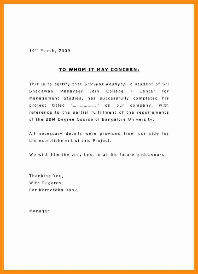 Concerned Letter Sample Unique Letters to whom It May Concern format Cover Letter