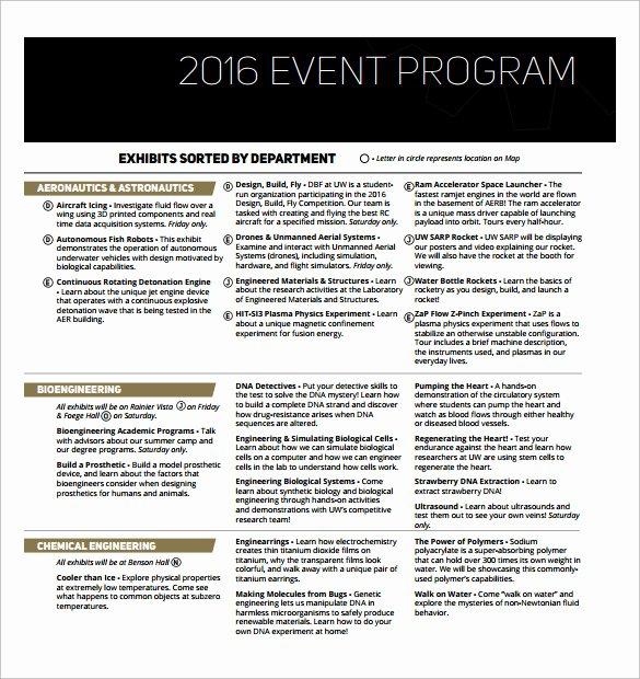 Concert Program Template Free Beautiful 38 event Program Templates Pdf Doc