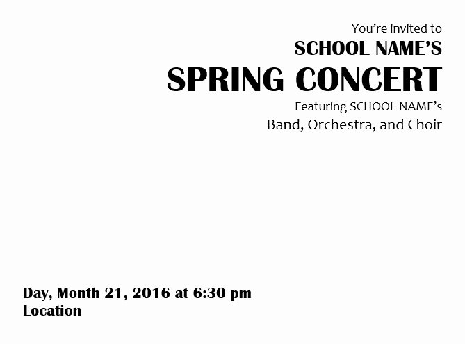 Concert Program Template Free Inspirational Teaching Elementary orchestra Template for A Concert