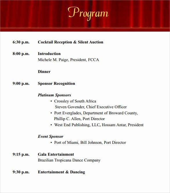 Concert Program Template Free Luxury 38 event Program Templates Pdf Doc