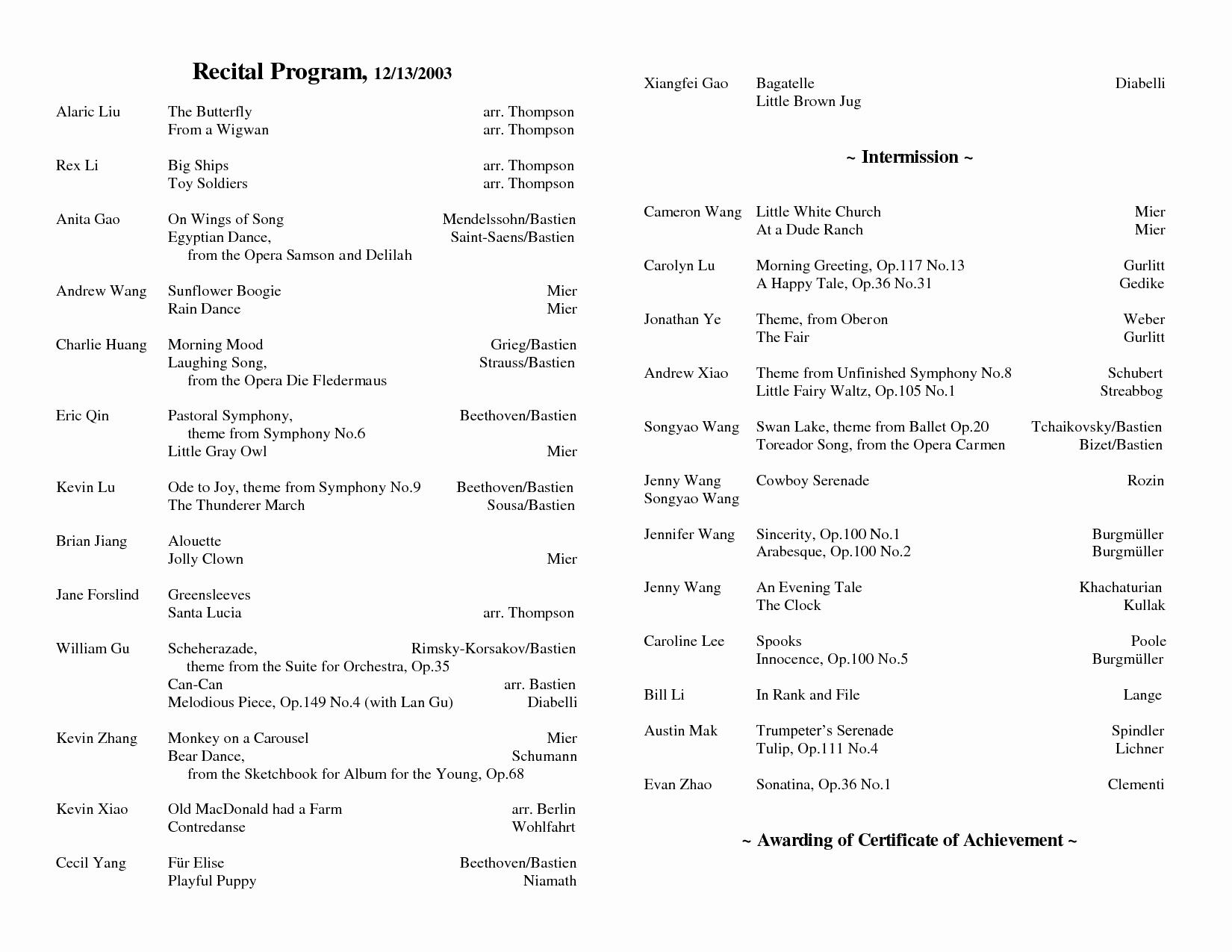 Concert Program Template Free Luxury Index Of Cdn 3 2002 942