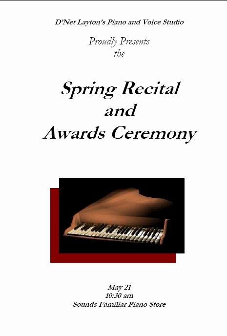 Concert Program Template Free Unique Recital Program Templates