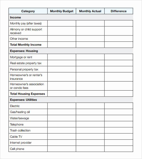 Condo association Budget Template Unique 9 Sample Bud Templates