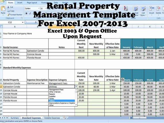 Condo Budget Template Fresh Rental Property Management Template Long Term Rentals Rental