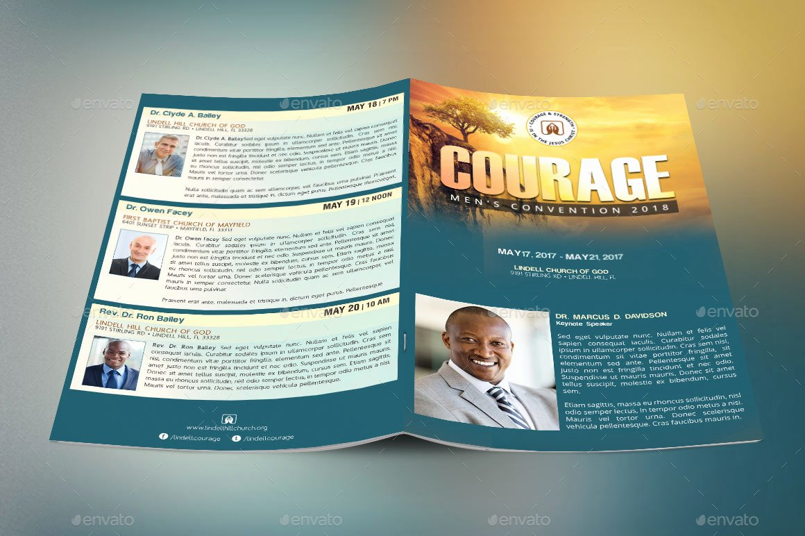 Conference Program Booklet Template Best Of Church Conference Program Cover Template by Godserv