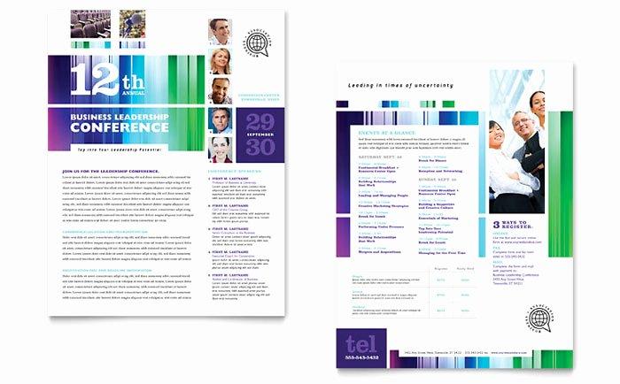 Conference Program Booklet Template Elegant Business Leadership Conference Datasheet Template Design