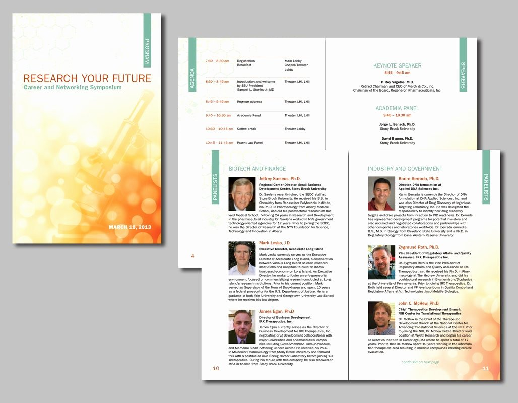 Conference Program Booklet Template Lovely Brochures & Flyers Bowman Illustration and Design