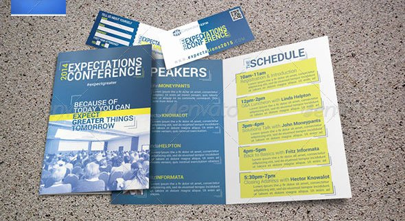 Conference Program Booklet Template New 20 Nice Church Brochure Templates Psd & Indesign
