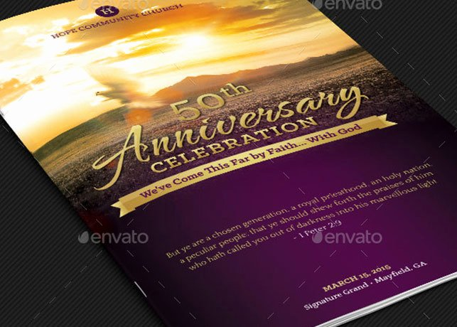 Conference Program Booklet Template New Church Anniversary Program Booklet Template Templates
