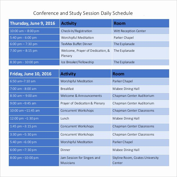 Conference Room Schedule Template Best Of Daily Schedule Template 37 Free Word Excel Pdf