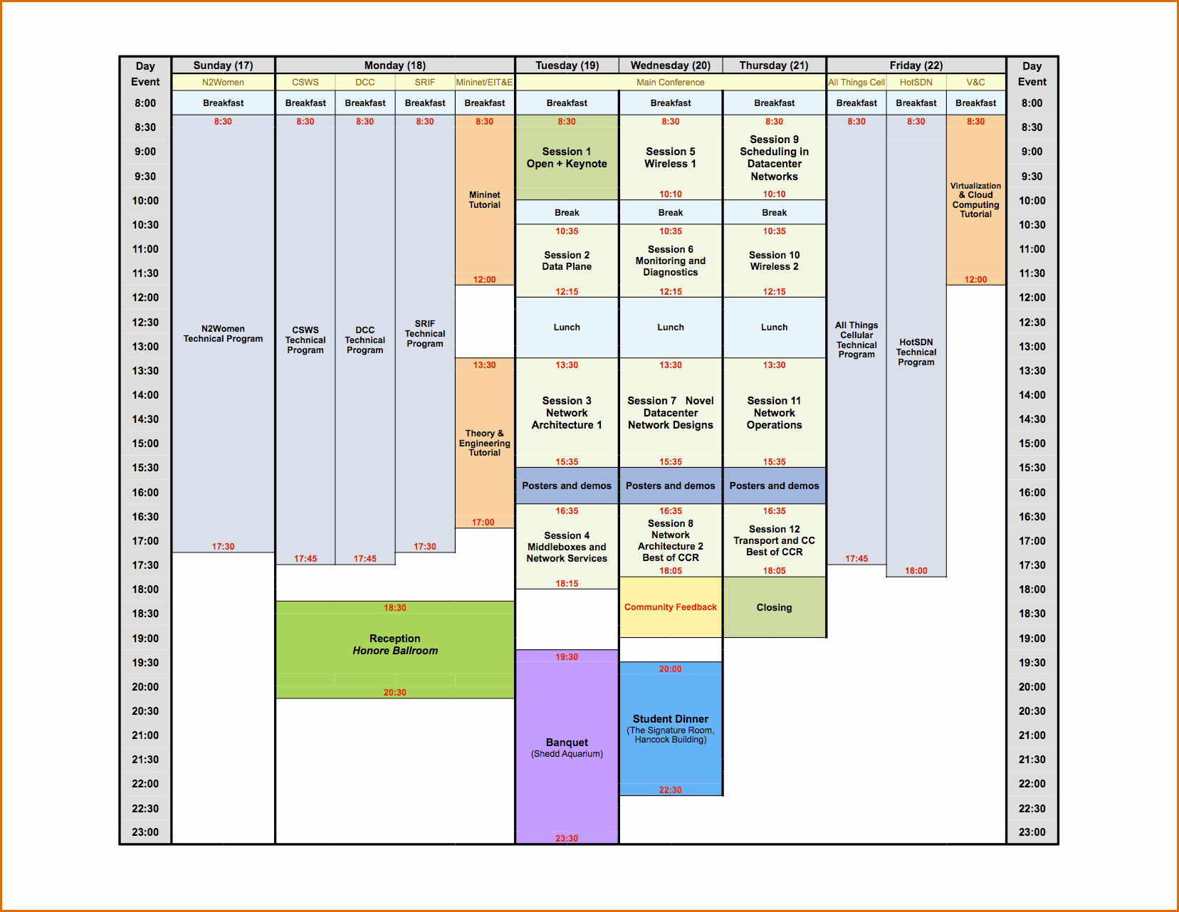 Conference Room Schedule Template Lovely 8 Conference Schedule Template