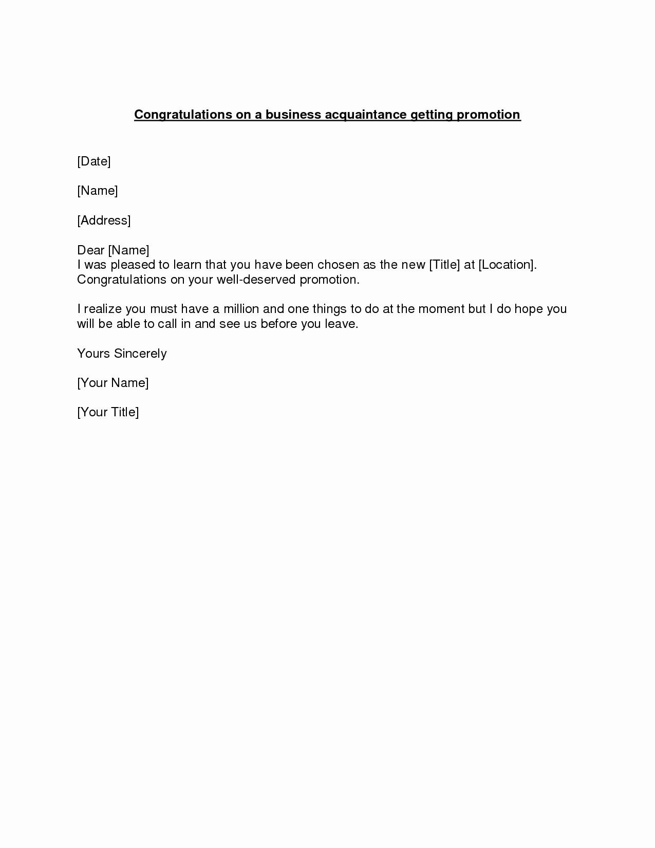 Congratulations Scholarship Award Letter New Promotion Congratulations Letter Example Of A
