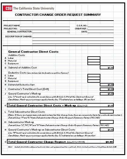 Construction Change order Template Beautiful 3 Construction Change order Templates