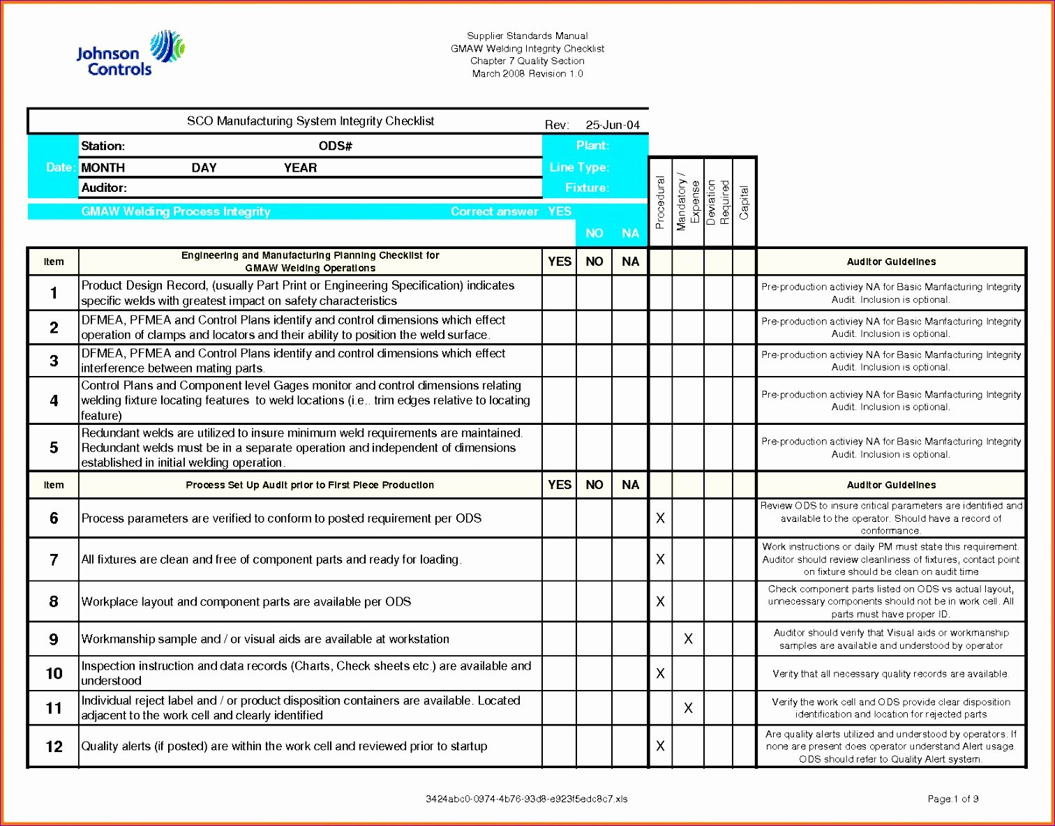 Construction Checklist Template Excel Awesome 11 Quality Checklist Template Excel Exceltemplates