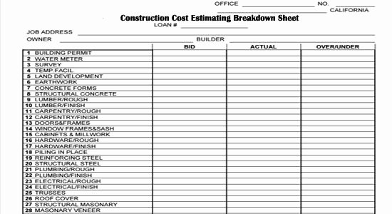 Construction Checklist Template Excel Awesome Pin by Angie Brooks On Construction forms In 2019