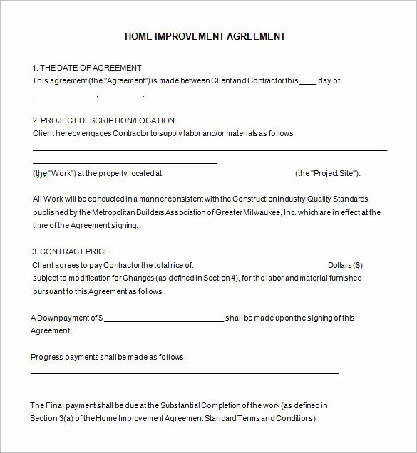 Construction Contract Template Free Download Inspirational Contractors Contract forms Free Templates Resume