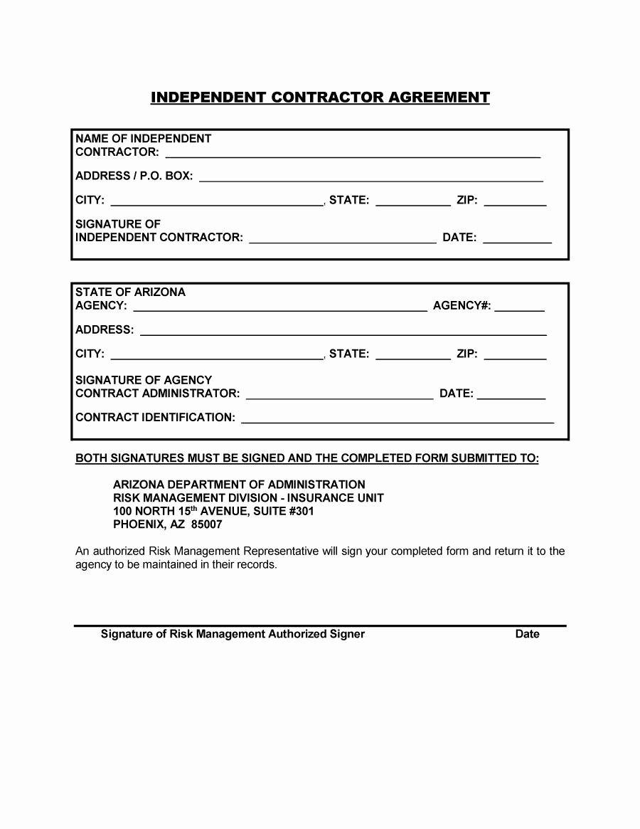 Construction Contract Template Free Download Unique 50 Free Independent Contractor Agreement forms & Templates