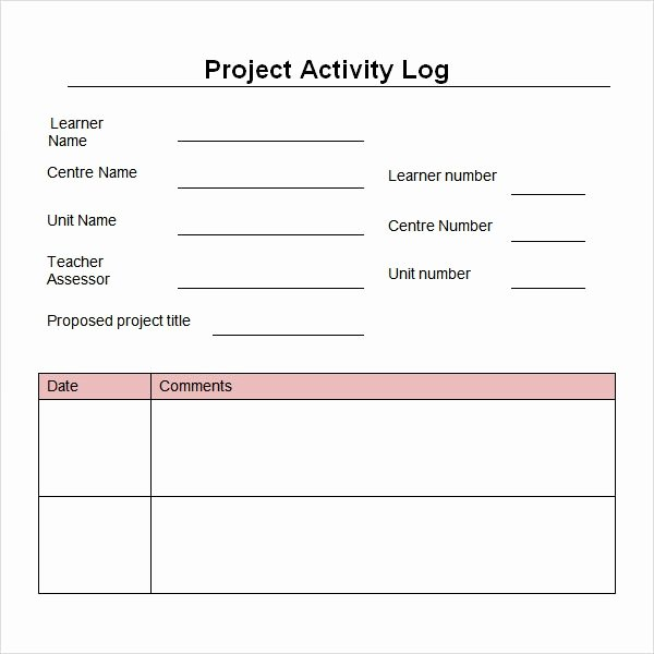Construction Daily Log Template Beautiful Work Log Template 5 Free Pdf Doc Download