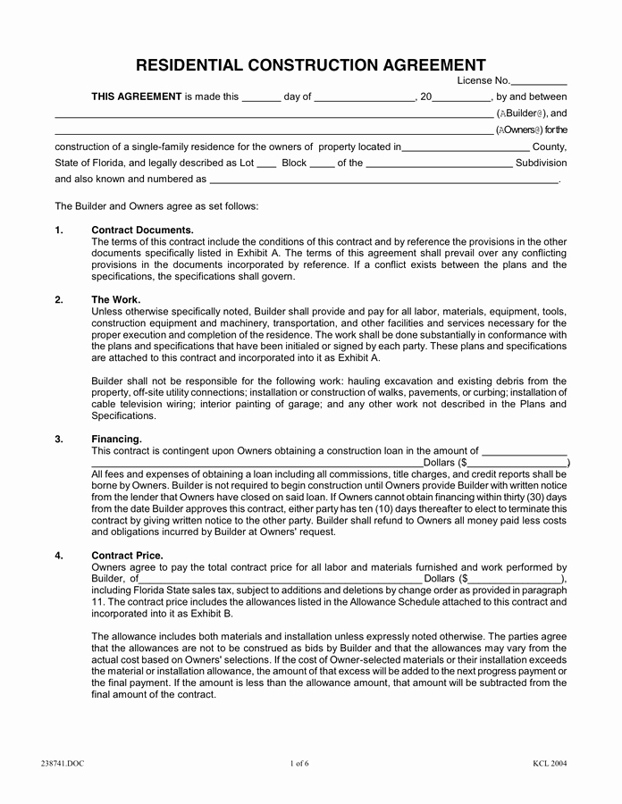 Construction Job Completion Sign Off form Awesome Image Result for Residential Construction Contract