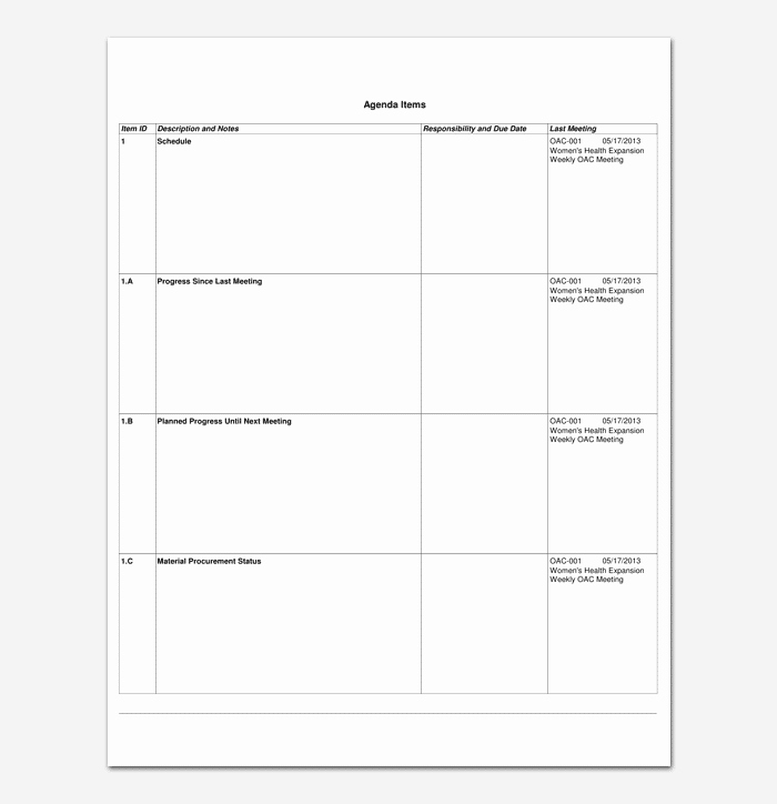 Construction Progress Meeting Agenda Beautiful Construction Meeting Agenda Template for Word Pdf format
