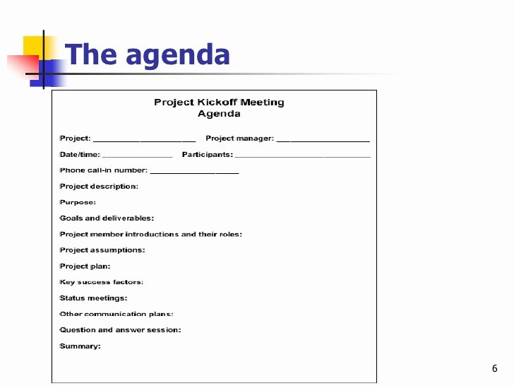 Construction Progress Meeting Agenda Best Of Effective Project Kickoff Meeting