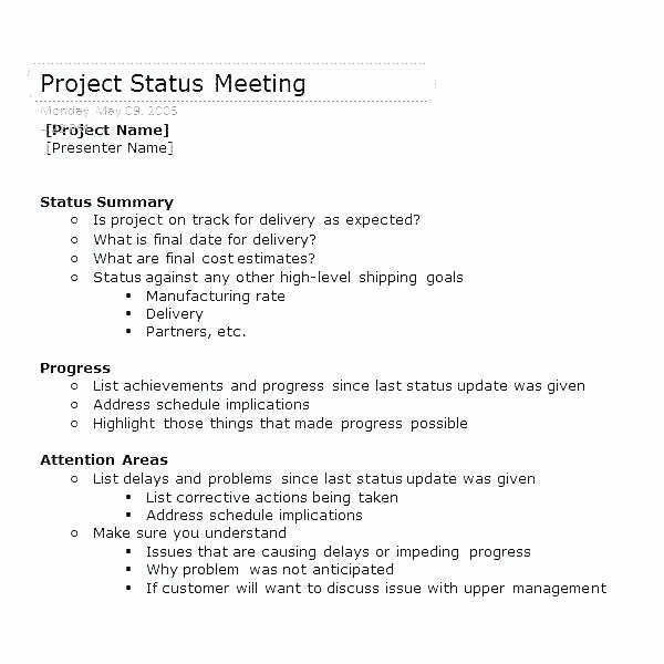 Construction Progress Meeting Agenda Luxury Kickoff Meeting Agenda Template