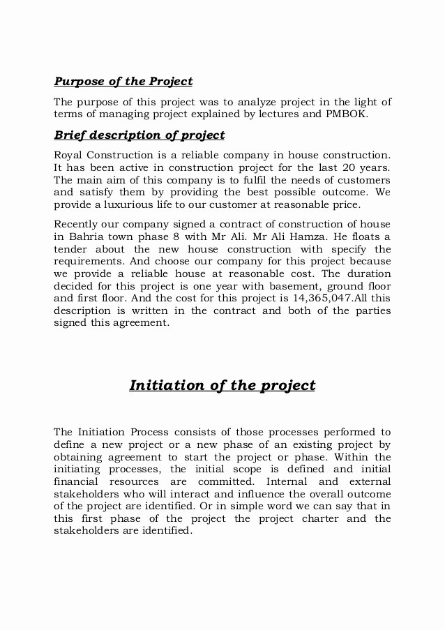 Construction Project Description Beautiful Project On Construction Of House Report