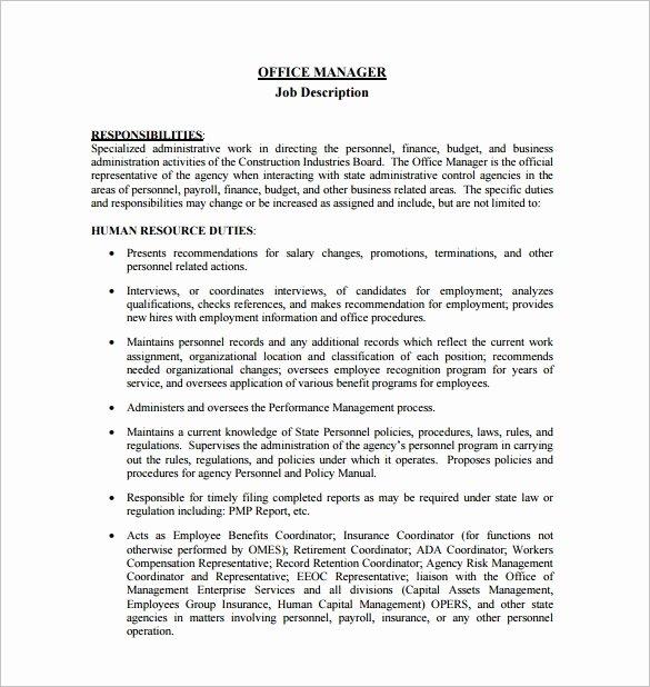 Construction Project Description Inspirational asset Management Duties and Responsibilities