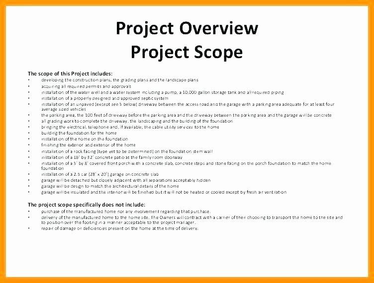 Construction Project Description New Scope Of Work Template Consulting – Ddmoon