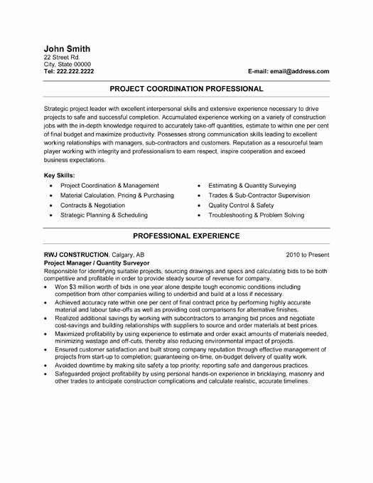 Construction Project Management Templates Awesome 21 Best Best Construction Resume Templates & Samples