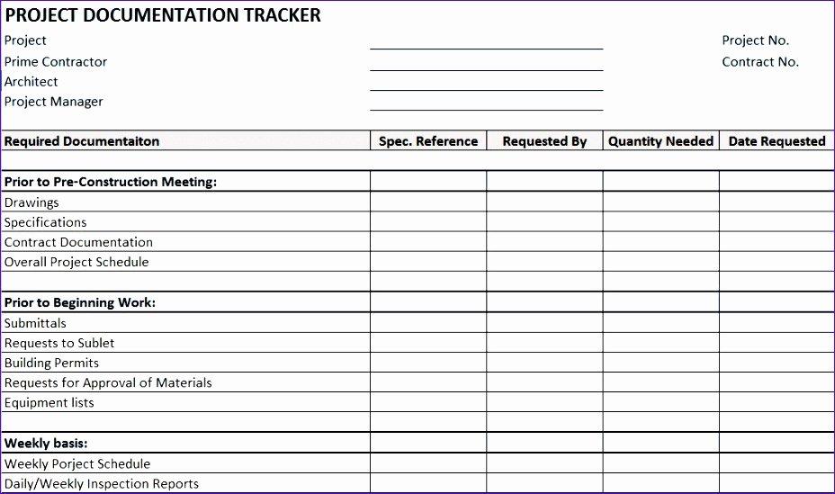 Construction Project Management Templates Awesome 6 Construction Punch List Template Excel Exceltemplates