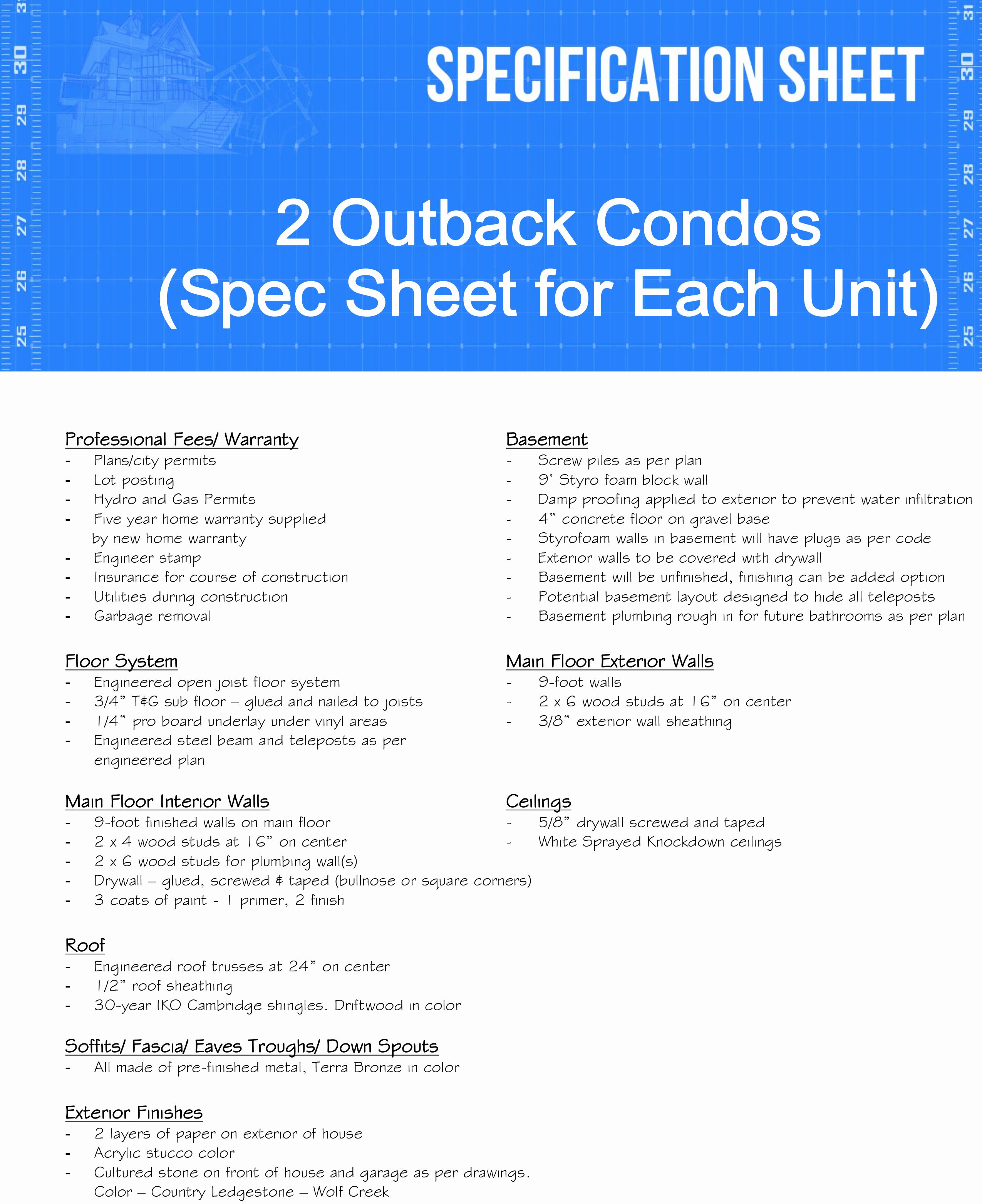 Construction Spec Sheet Template Beautiful 3 Questions to ask Residential Construction Spec Sheet