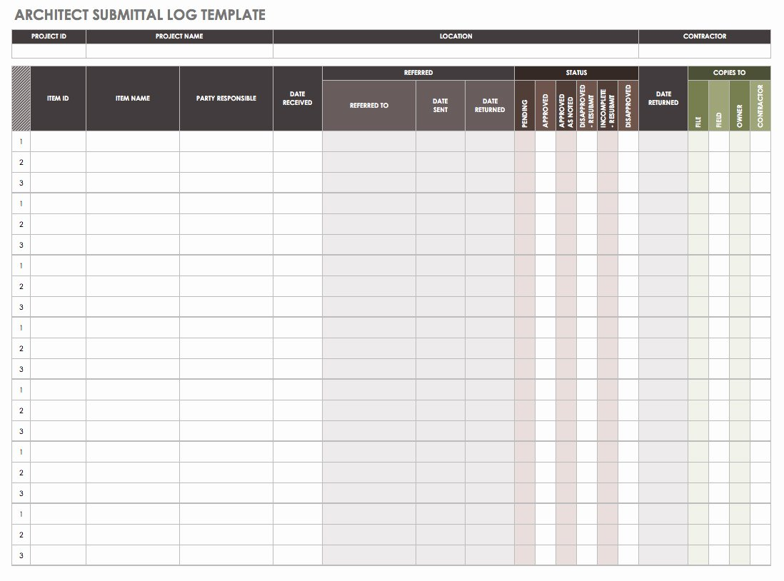 Construction Submittal form Template Luxury How to Manage Construction Submittals