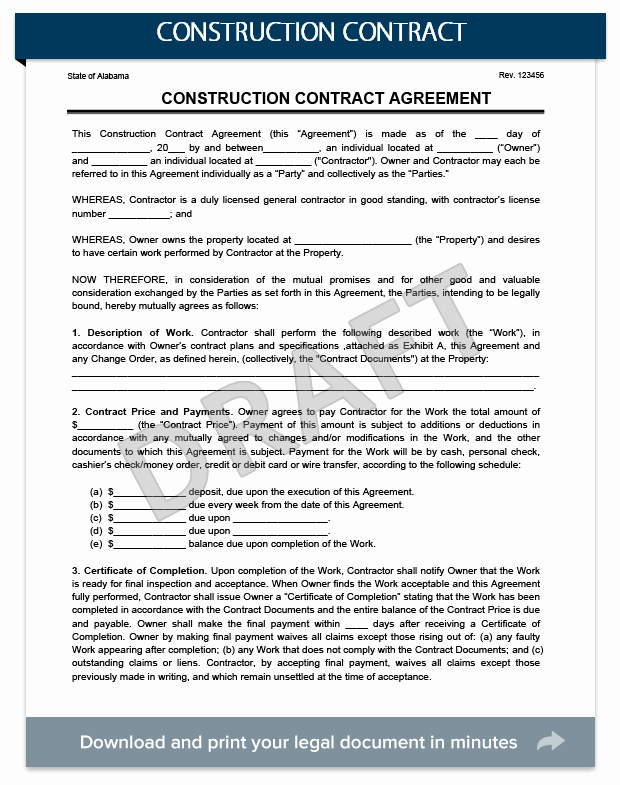 Construction Warranty Template Inspirational Construction Contracts Everything You Need to Know