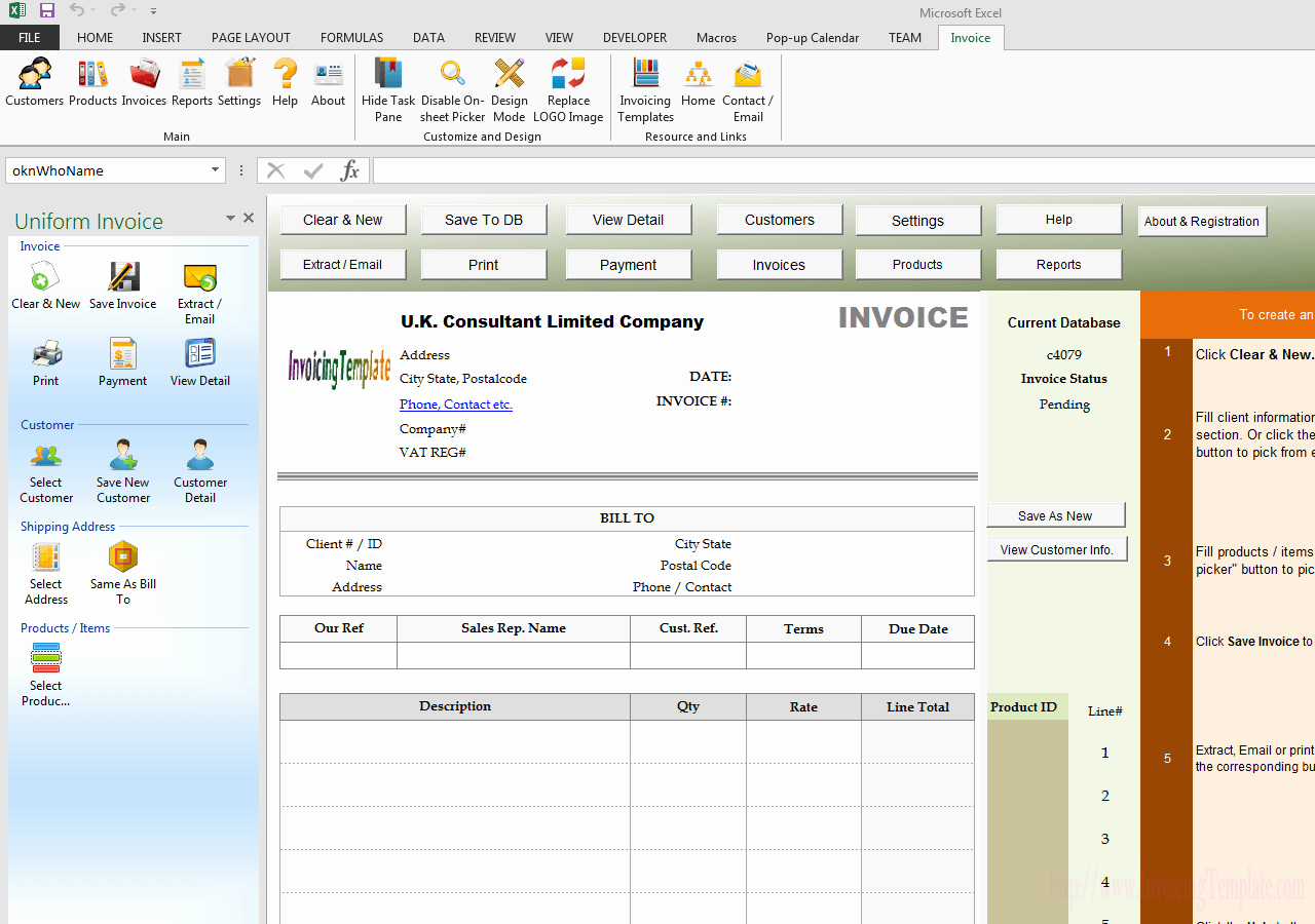 Consultant Fee Schedule Template Luxury Consultant Vat Invoice for U K Limited Pany