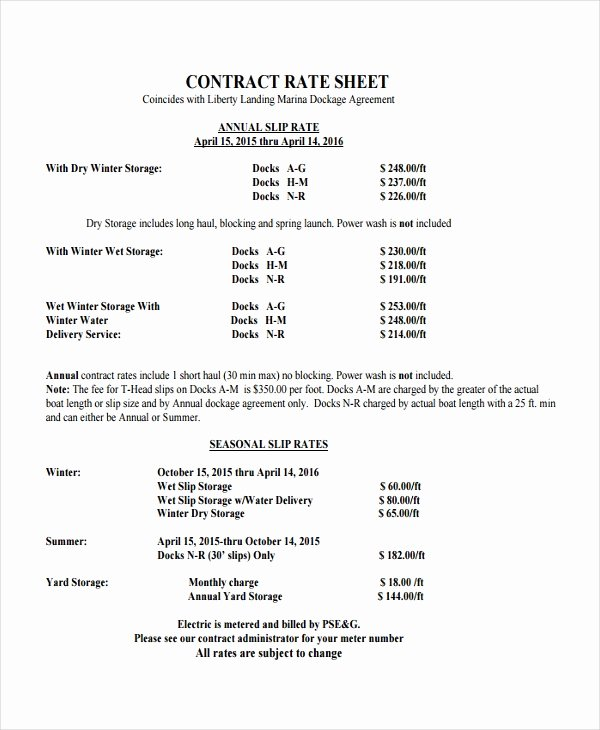 Consultant Fee Schedule Template Luxury Rate Sheet Template 14 Free Word Excel Pdf Document