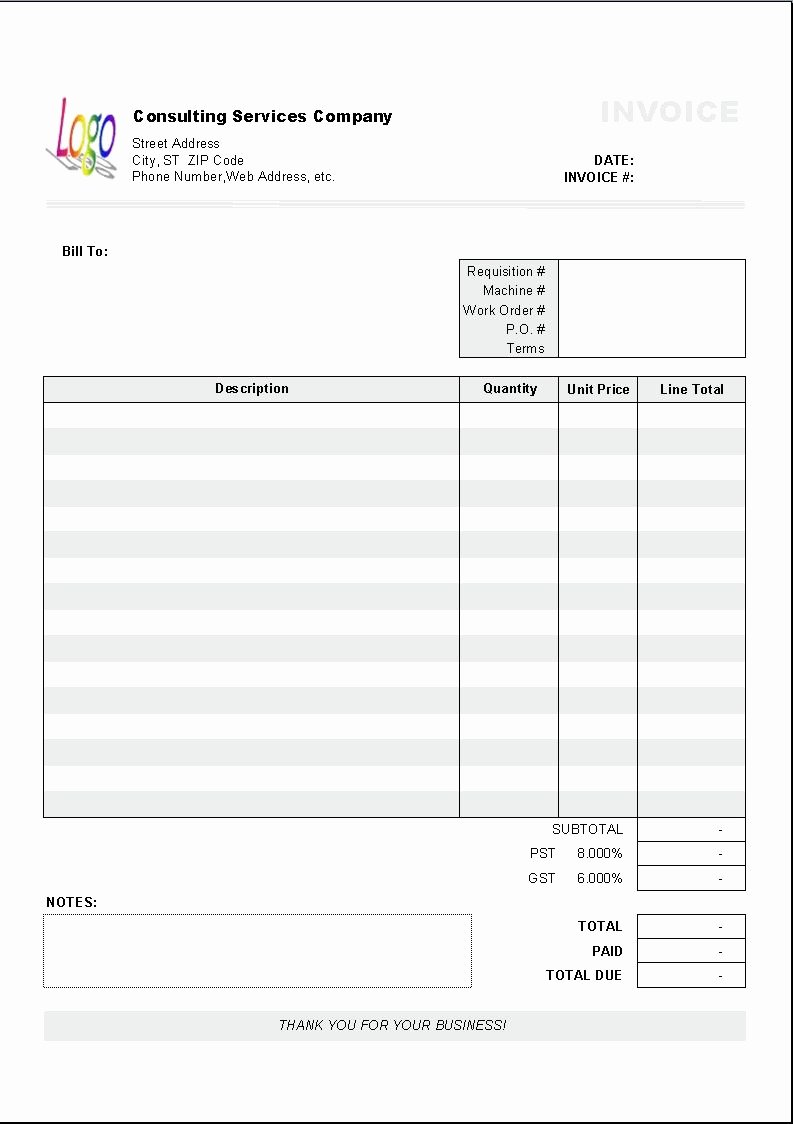 Consulting Invoice Template Word Inspirational Excel Based Consulting Invoice Template Excel Invoice