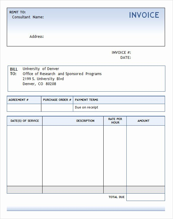 Consulting Invoice Template Word New Consulting Services Invoice Sample Templates Resume