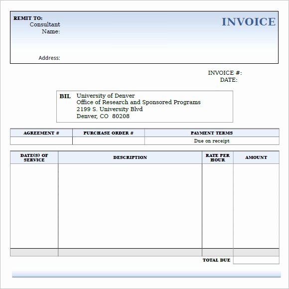 Consulting Invoice Template Word Unique 9 Consulting Invoice Samples Word Pdf
