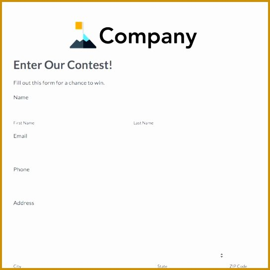 Contest Entry form Template Beautiful 3 Trade Show Lead form Template