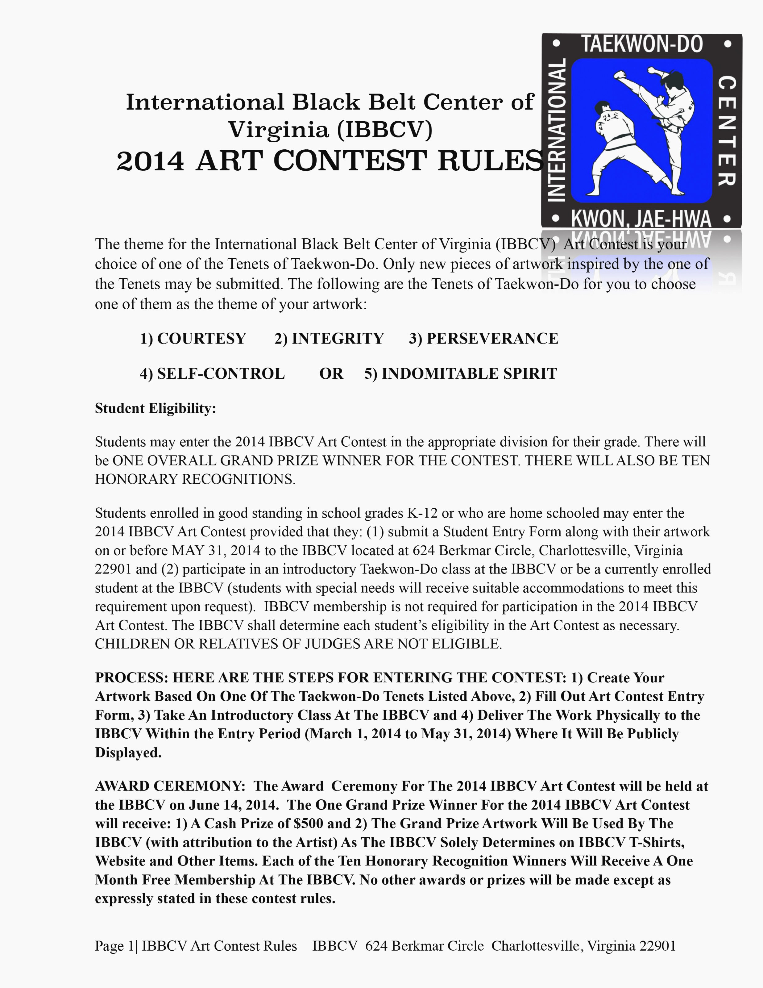 Contest Entry form Template Best Of Ten Ways How to Prepare for Art Contest