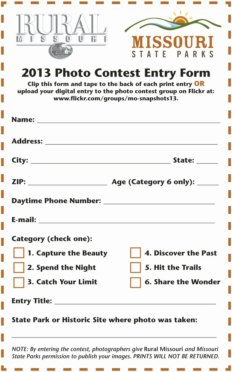Contest Entry form Template Luxury Contest Entry forms Template Blank – Radiofama