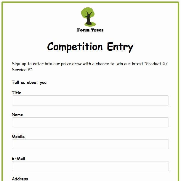 Contest Entry form Template Unique 95 Contest Entry form Sample Contest Entry form Template