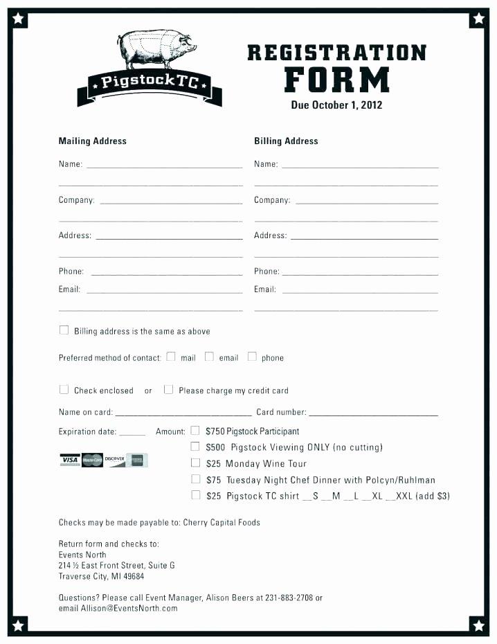Contest Entry form Template Unique Contest form Template
