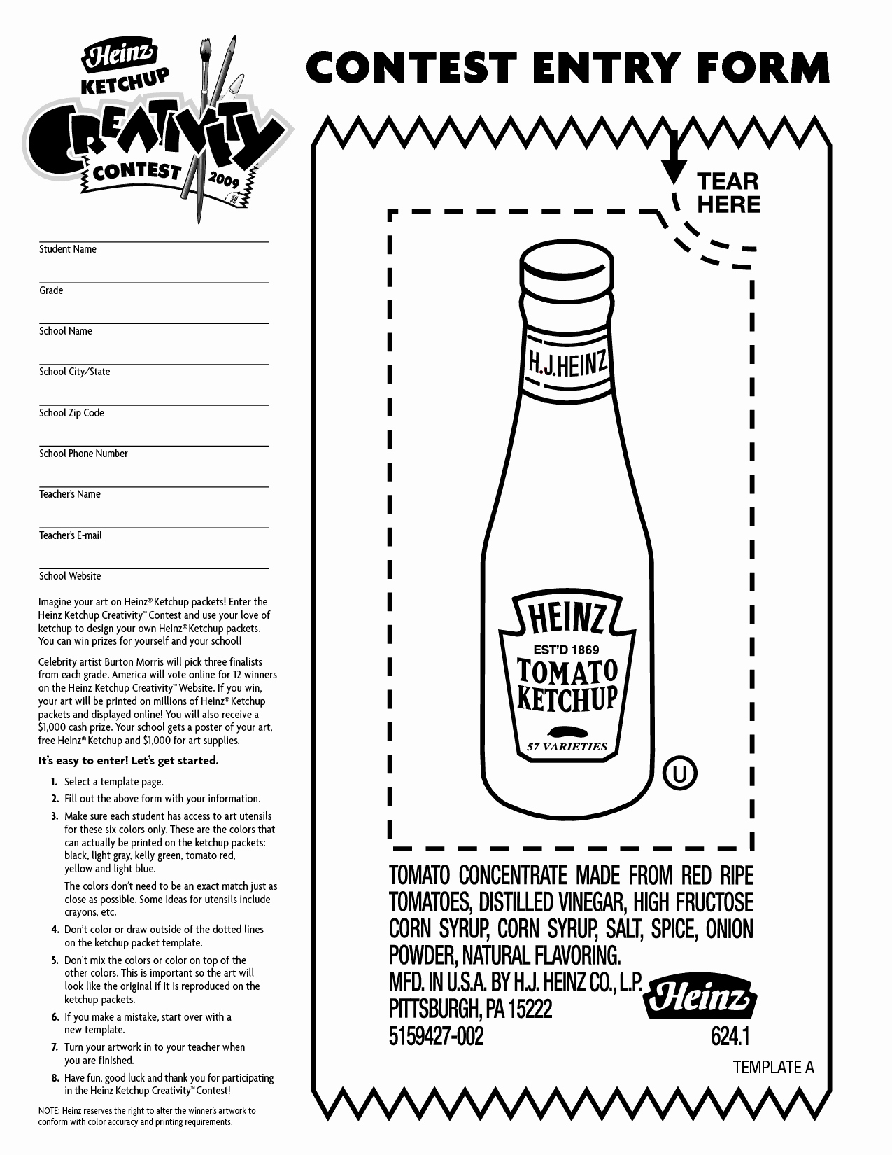Contest Entry form Template Unique Draw Entry form Template Etame Mibawa